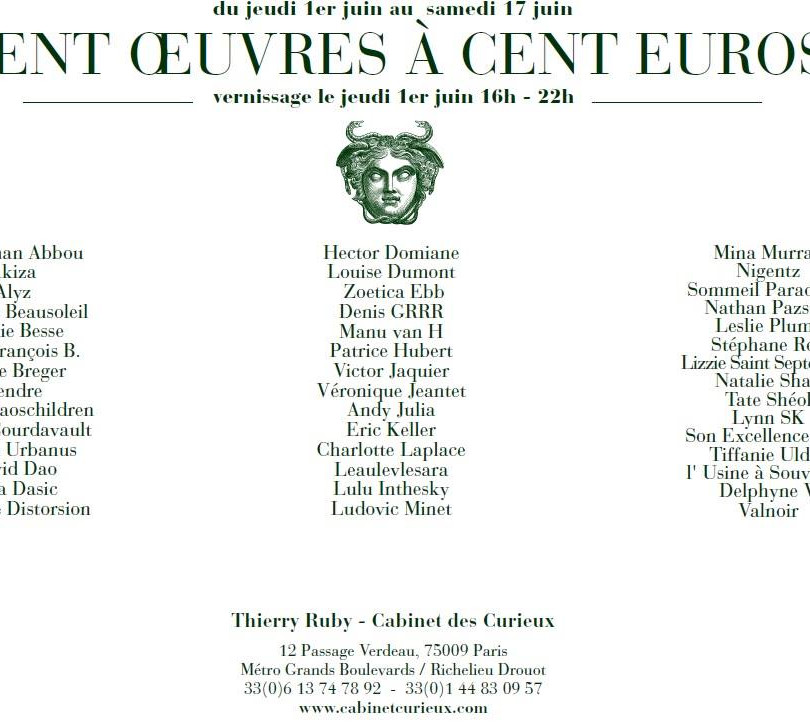 2017 - Le Cabinet des Curieux : exposition collective - Paris