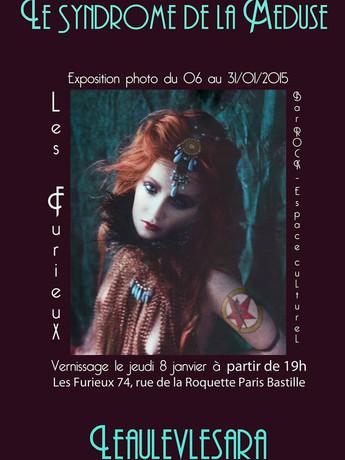 """2015 Les Furieux : exposition """"Le syndrome de la Méduse"""" de Leaulevlesara - Paris"""