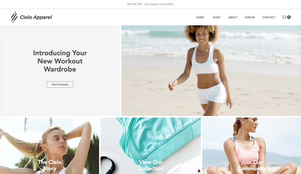 Sport en outdoor website templates – Atletiekkleding