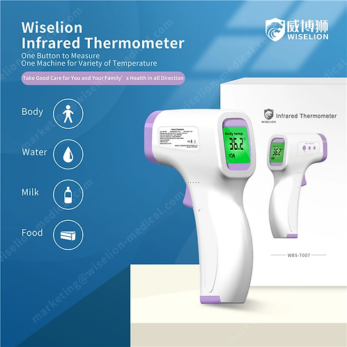 WiseLion No Touch Thermometers - $28 per. Min. 100