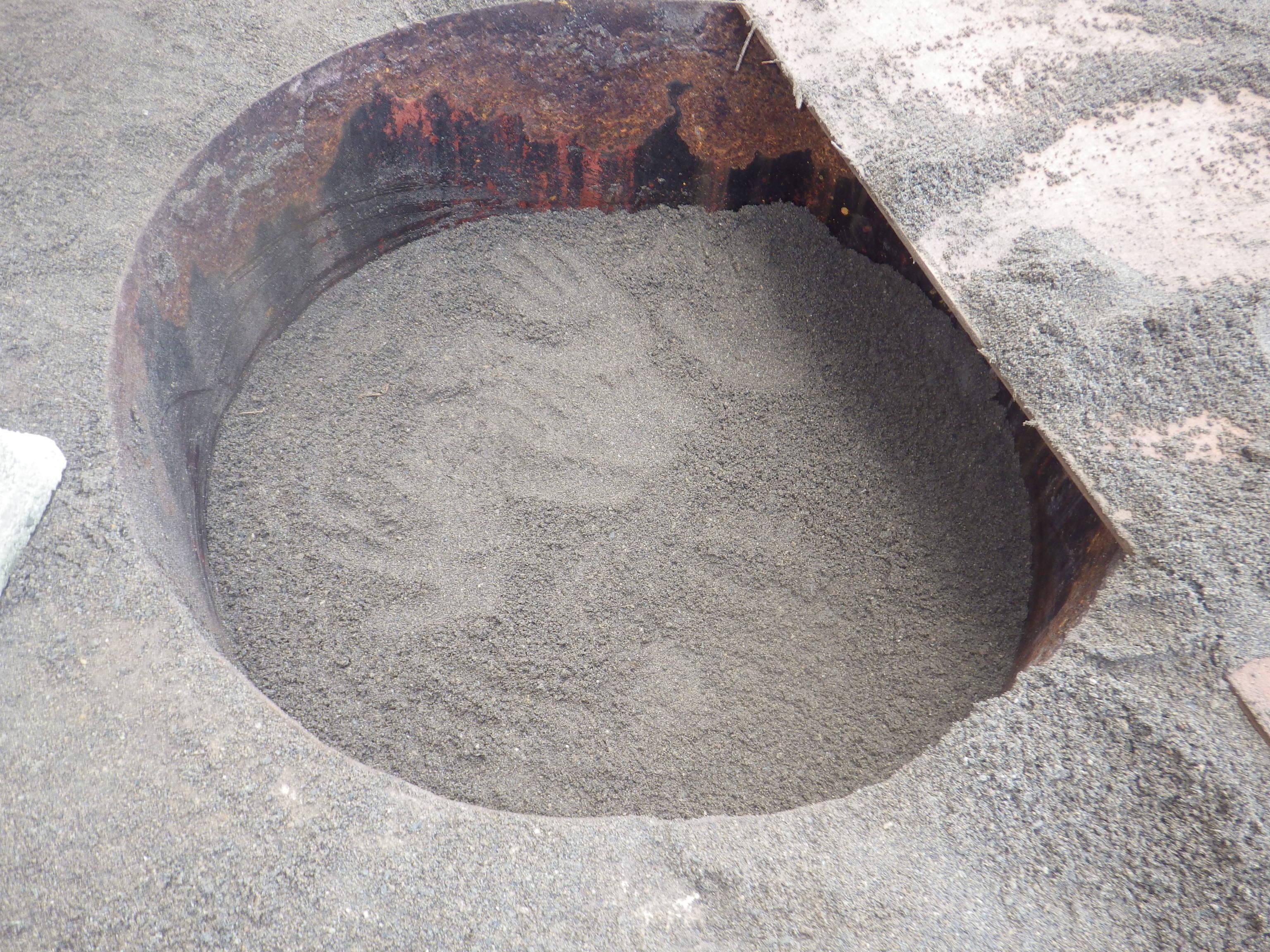 砂埋め完了