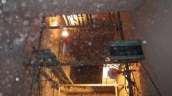ゴミ焼却炉内 足場組立後