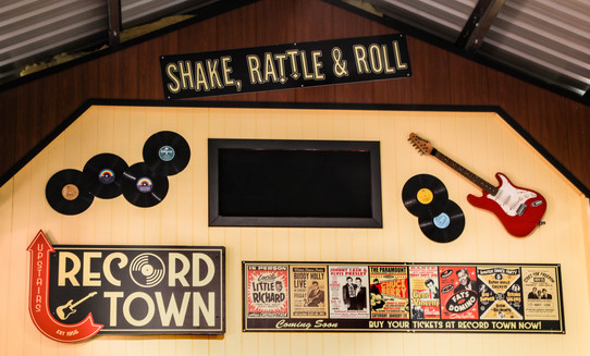 Record Town - Music store window