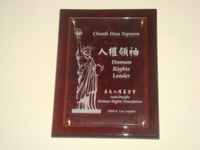 Giai thuong Human Rights Leader 2009