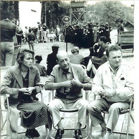 "Thomas Blatt (right) with ""Luka"" and Shlomo Szmajzner"