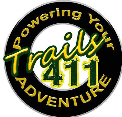 TRAILS 411 POWERING YOUR ADVENTURE LOGO.