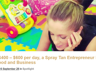 Earning $400 – $600 per day, a Spray Tan Entrepreneur Balances Motherhood and Business