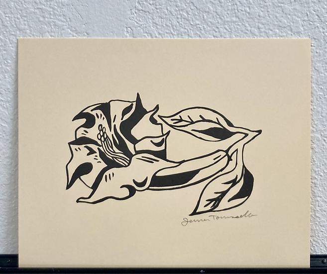 Datura Flower Print