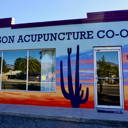 Tucson Acupuncture Co-op Sign and Mural