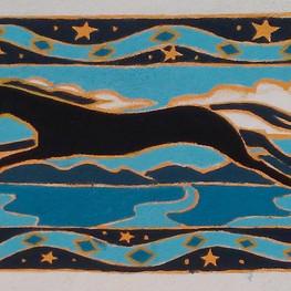 Horse & Serpents Backyard Mural