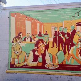TallBoys Start Wars Cantina Mural