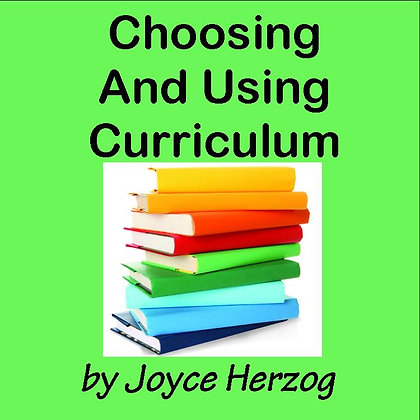 Choosing & Using Curriculum audio seminar