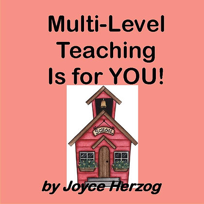 Multi-Level Teaching Is for YOU! audio seminar