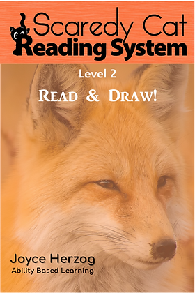 Scaredy Cat Reading System, Read & Draw, Level 2