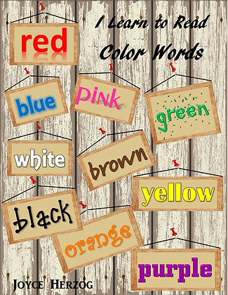 I Learn to Read Color Words