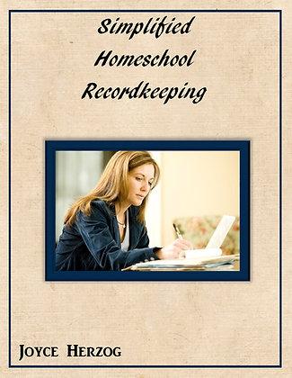 Simplified Homeschool Recordkeeping