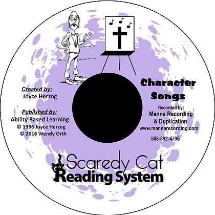 Scaredy Cat Reading System Character Songs