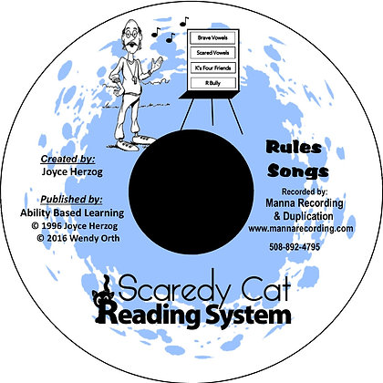 Scaredy Cat Reading System Rules Songs