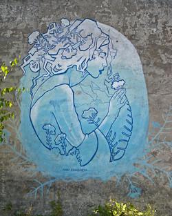 Wood Art Gallery Krefeld I Street Art I Samara Blue Photo Art I Maria Kudasheva I Krefeld