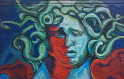 Street Art I Graffiti I Mural  Lifestyle I kieferngoes40 I Samara Blue I Medusa I alexandros.tsakona
