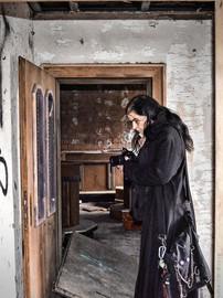 Ausgebrannes Hotel I Urbex Art I Lost Place I Samara Blue Photo Art I Verlassene Orte