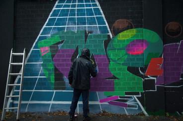 Streetart I  Kiefernstraße I Kieferngoes40 I Kiefernbleibt I Samara Blue Urbex Art I Graffiti I 40° Urban Art Festival