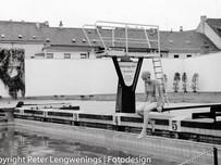 Ende der Freibad Saison in Krefeld 22.09.1961