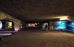 Down Town Gallery I Street Art I Samara Blue Photo Art I Krefelder Perspektivenwechel I Bunker