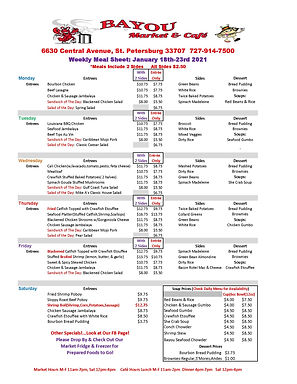 BMC Weekly Meal Sheet Jan 18th-23rd-2021