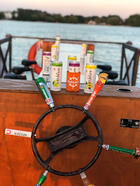 Sheboatin' pedal tavern boat in Elkhart Lake, WI