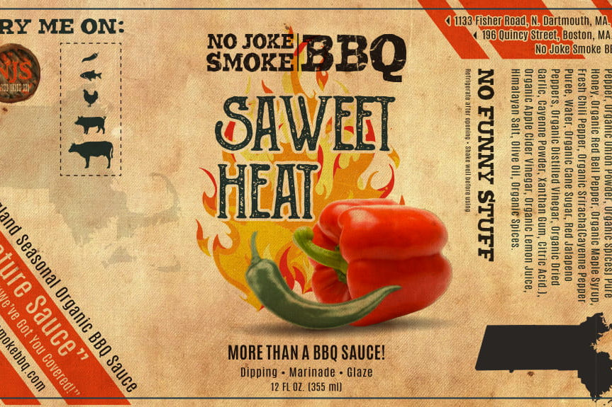 No Joke Smoke BBQ Saweet Heat 16 oz | No Joke Smoke BBQ