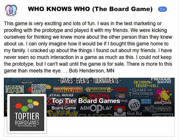 Professtional testimonials such as Toptier Boardgames and others will demonstrate the proof of the games integrity.