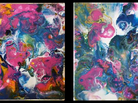 "Abstract Art 2 - 5"" x 7"" P107"