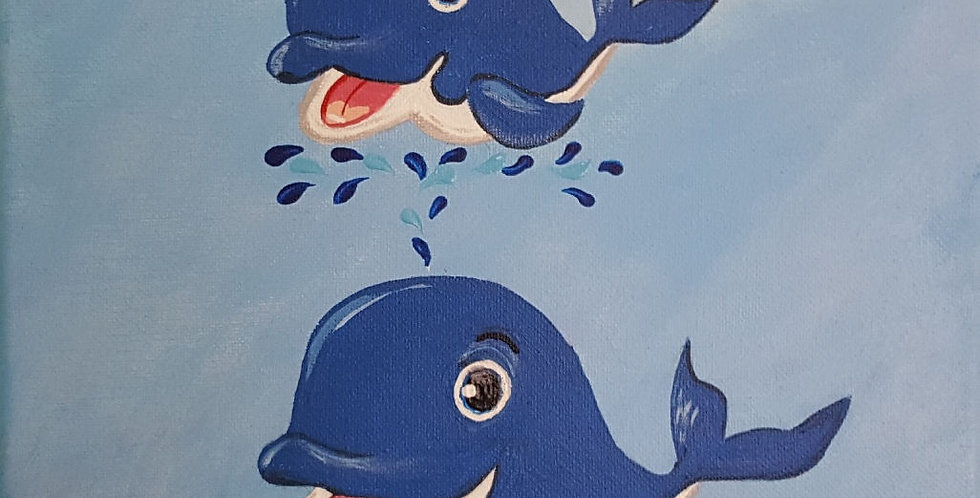 """BABY WHALE  10"""" X 10"""""""