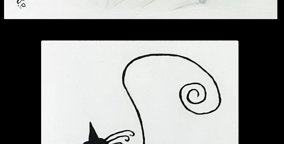 "BLACK CATS  2 - 5"" x 7"""
