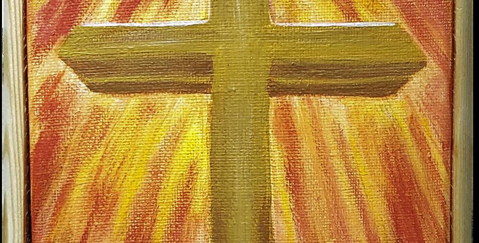 """Cross Framed  5"""" x 7"""""""