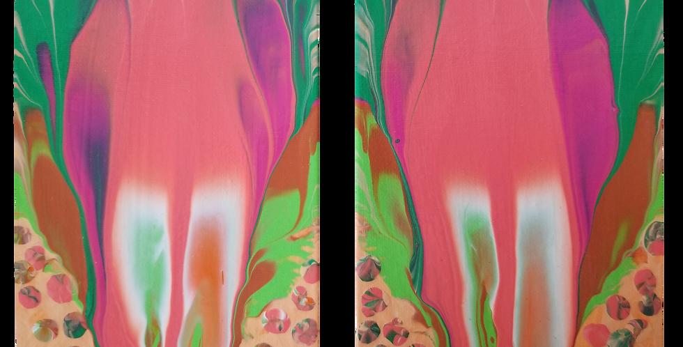 "Abstract Art  2 - 5"" x 7""  P103"