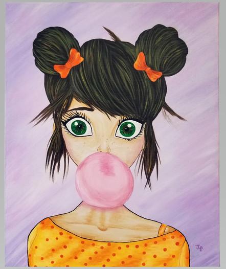 """Bubble Girl 16""""x20""""  Free Shipping"""