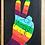 """Thumbnail: PEACE FRAMED  5"""" X 7"""""""