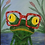 """Thumbnail: Frog Framed 8"""" x 10 """""""