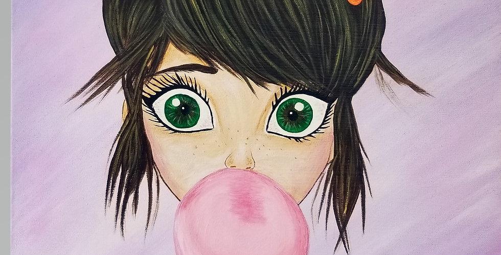 "Bubble Girl  16""x20"""