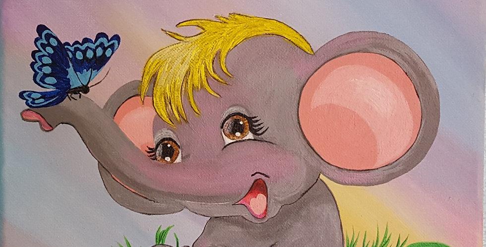 """BABY ELEPHANT  10' X 10"""""""