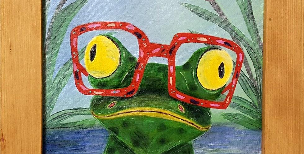 """Frog Framed 8"""" x 10 """""""