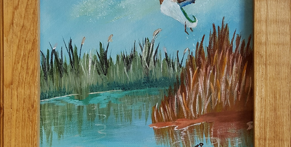 "FLYING DUCK  8"" x 10"""