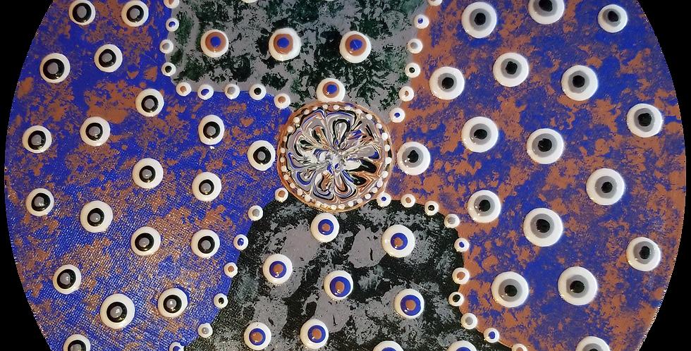 "Abstract Art   12"" Round"