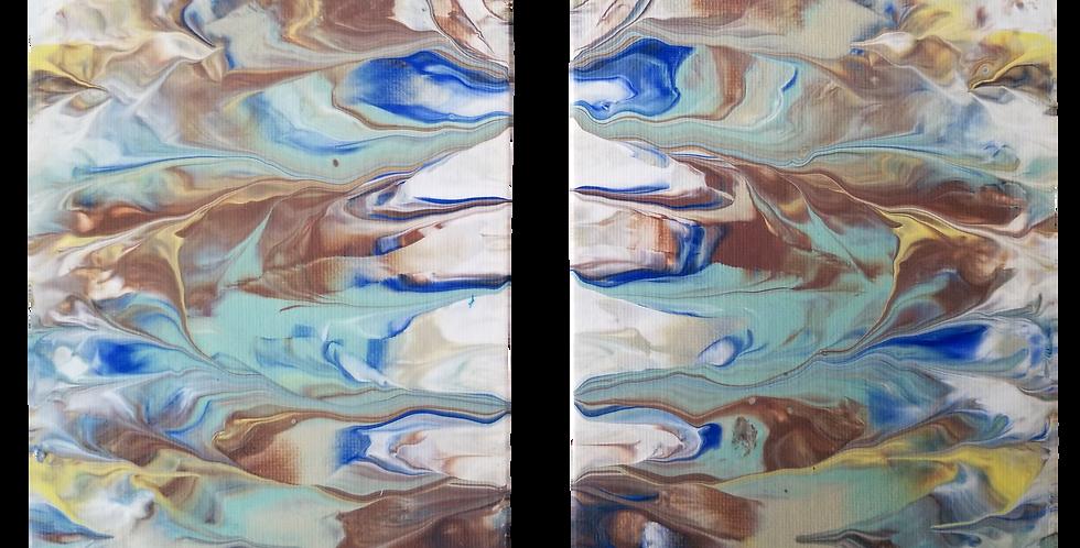 "Abstract Art  2 - 5"" x 7""  P102"