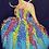 "Thumbnail: Girl light blue dress Painting 10""x 20"""