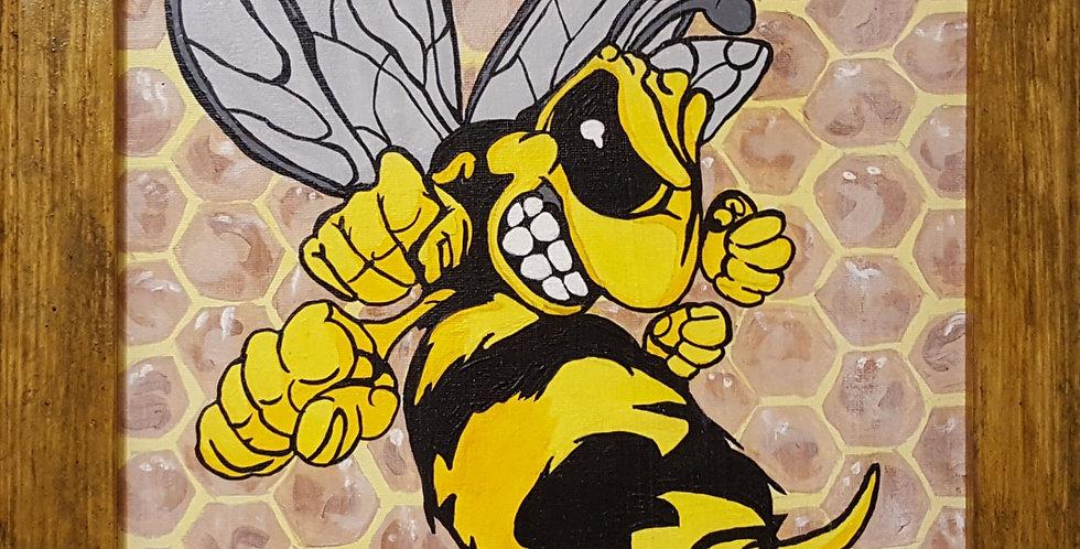 "Bumble Bee Framed 11""x 14"""