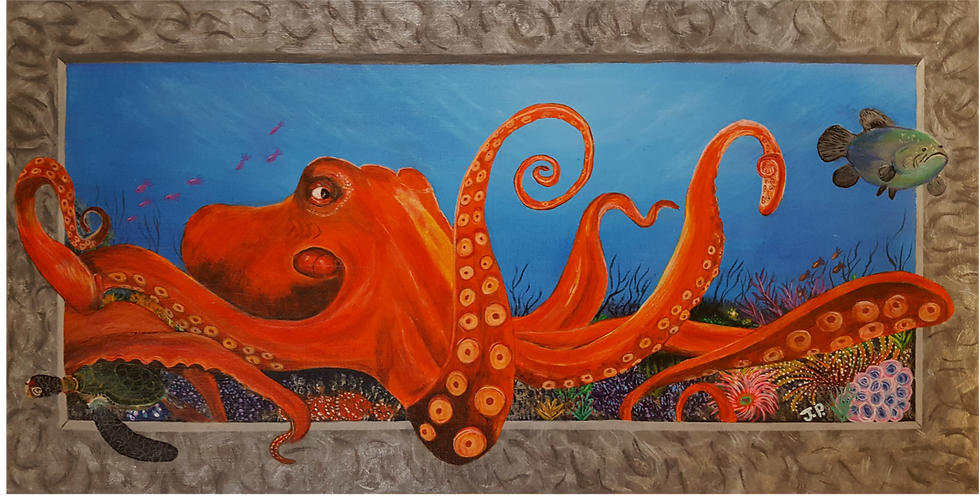 """3D Octopus 10""""x 20"""""""