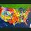 "Thumbnail: USA  GREEN WOOD FRAMED 10""x 20"""